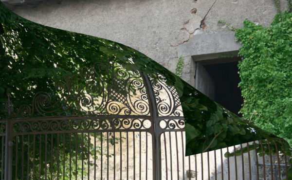 window behind gate