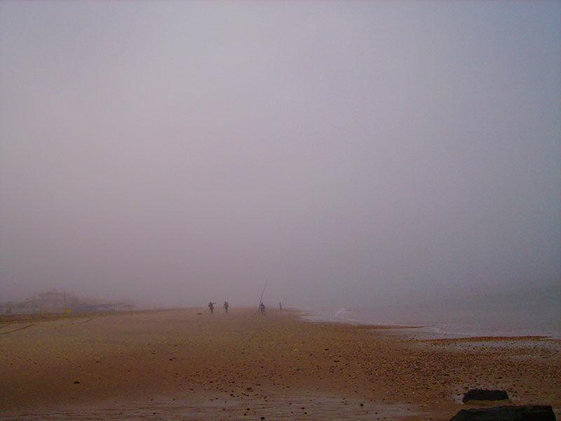 seamen on foggy day