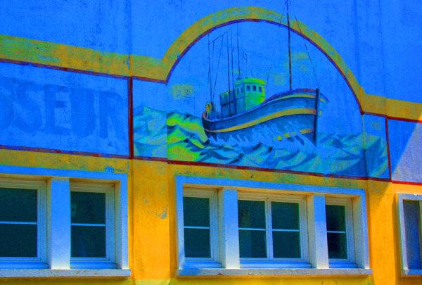 Fish factory wall