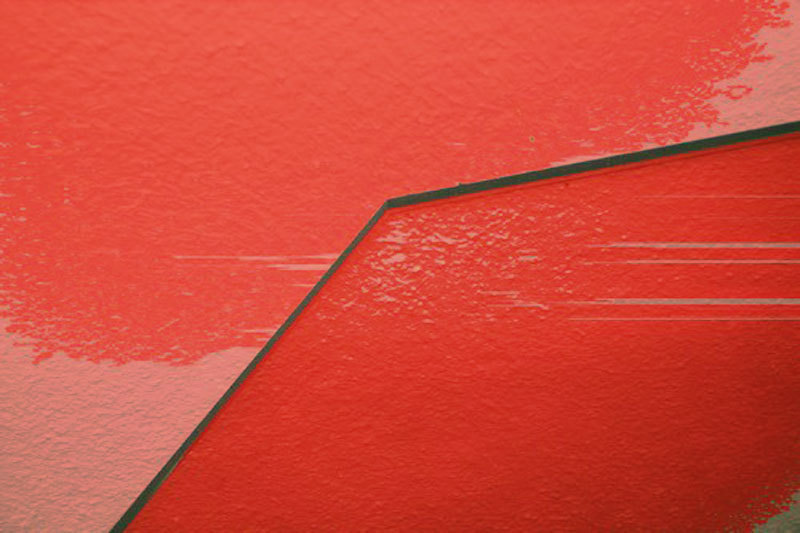 abstract red glass accident