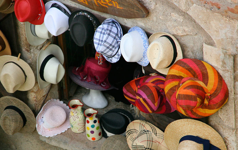 Hat exhibition for tourists