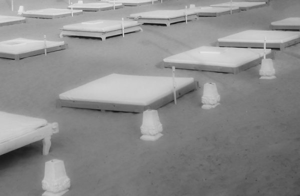 Beds on the beach