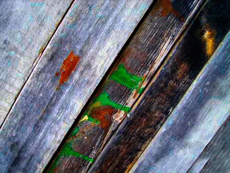 coloured wood