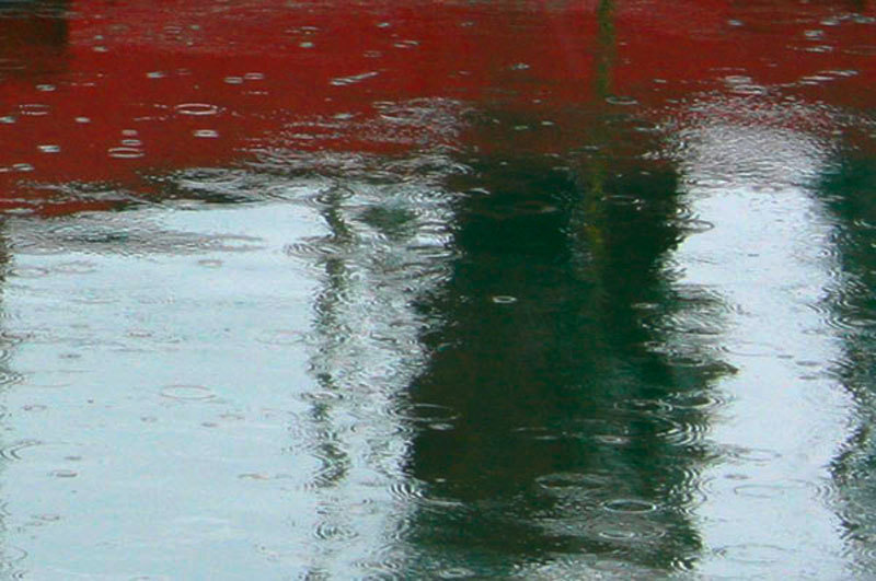 raindrops rain and reflection abstract