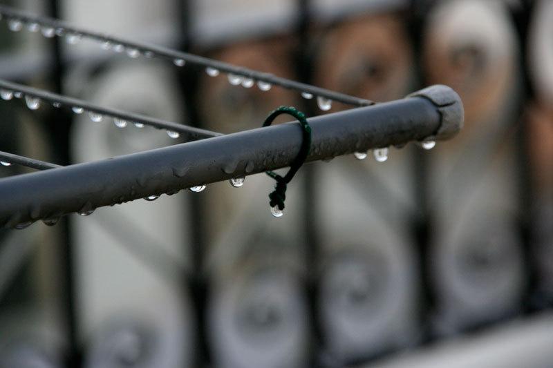 water drops on terrace