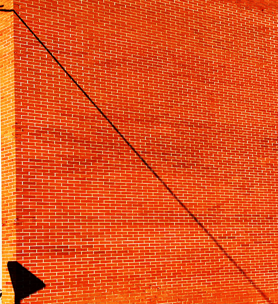 red bricks lines shadows diagonal