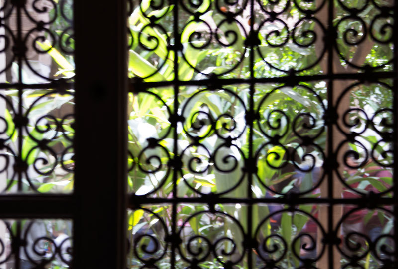 iron window gate transparency