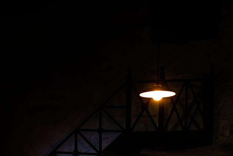 light in dark cellar