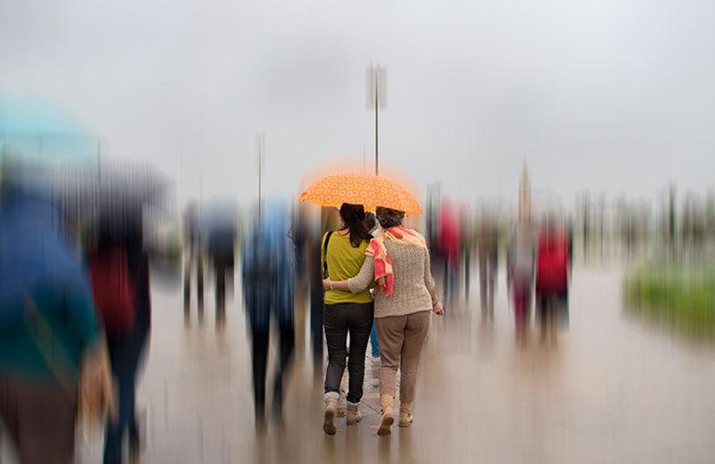 tenderness under umbrella