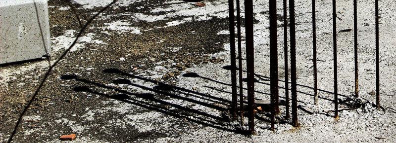 shadows in building site