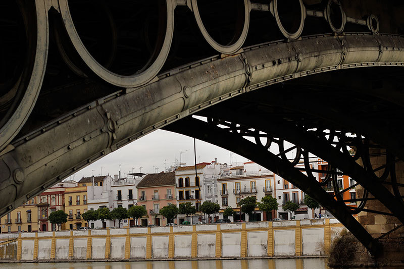 Seville bridge on river Guadalquivir