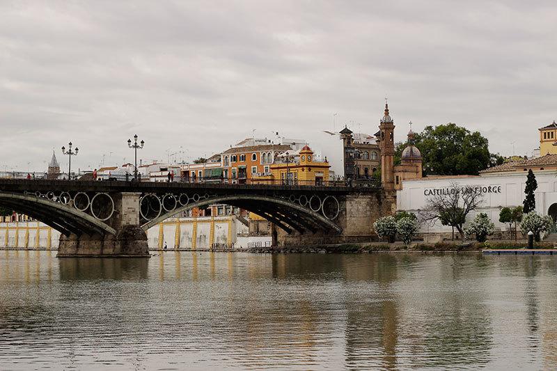Seville banks of river Guadalquivir