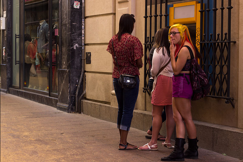 people in the streets of Seville