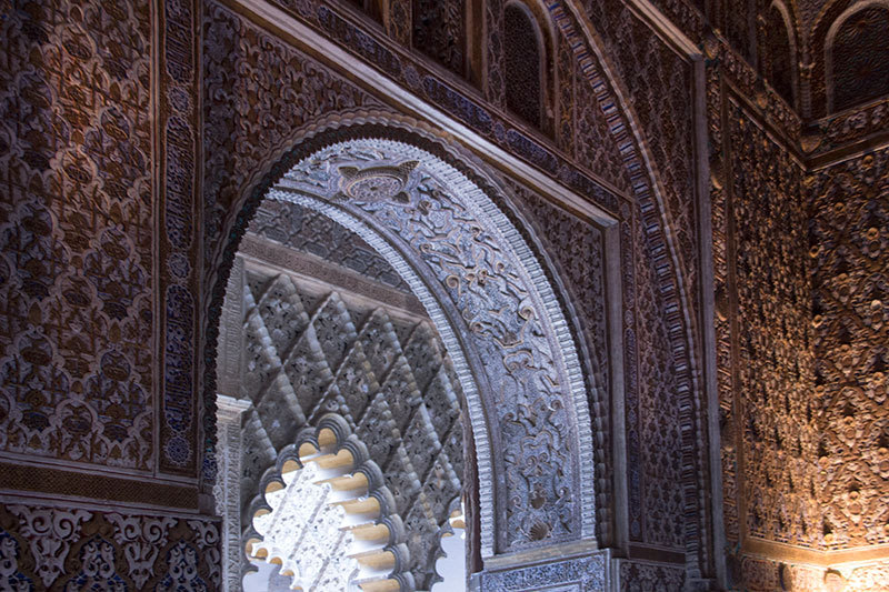 Reales Alcazares at Seville moorish heritage