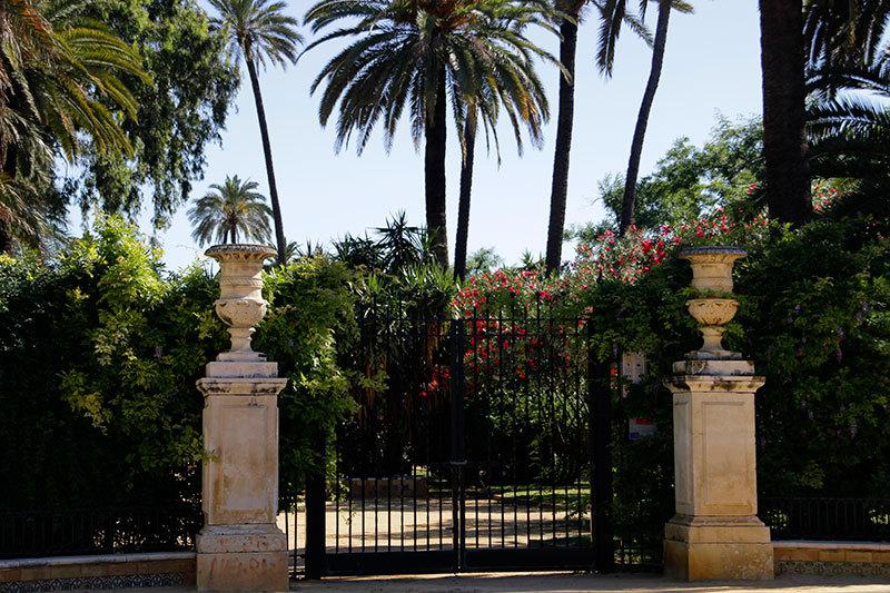Seville entrance to jardines de Murillo