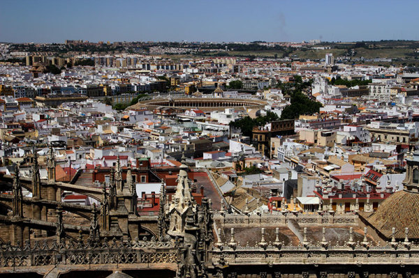 view of Seville from Las Setas