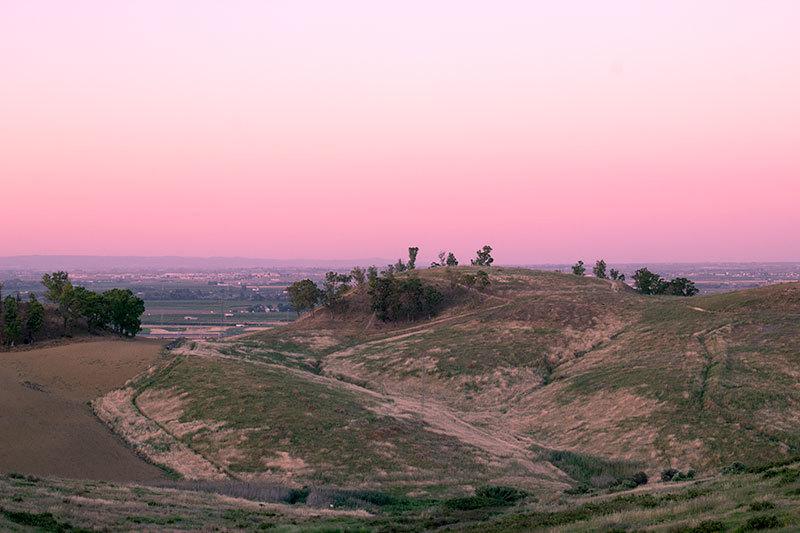 sunset over seville surroundings