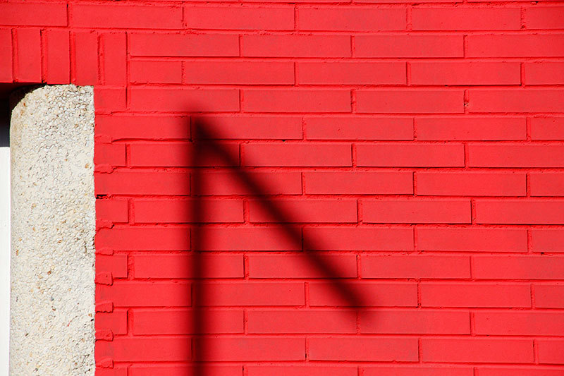 shadow on red wall