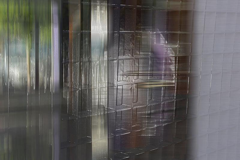 shelves in a shopwindow