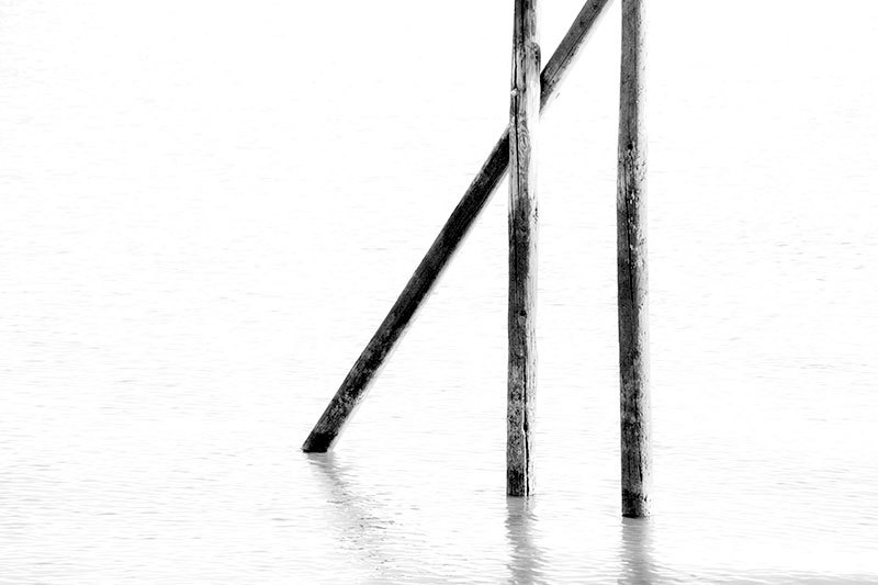 wooden structure at sea