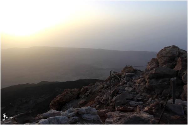 Lever du soleil au sommet du Teide