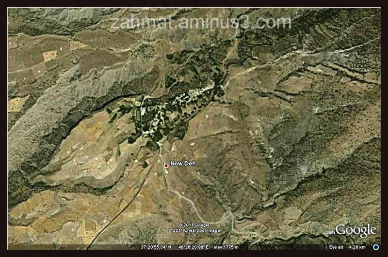 عکس ماهواره ای نوده