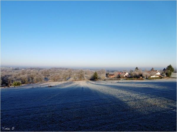 La campagne gelée...