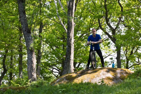 Self-portrait on mountainbike
