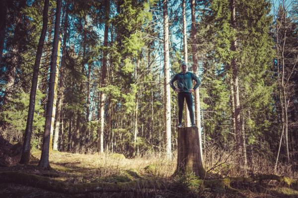 High on tree