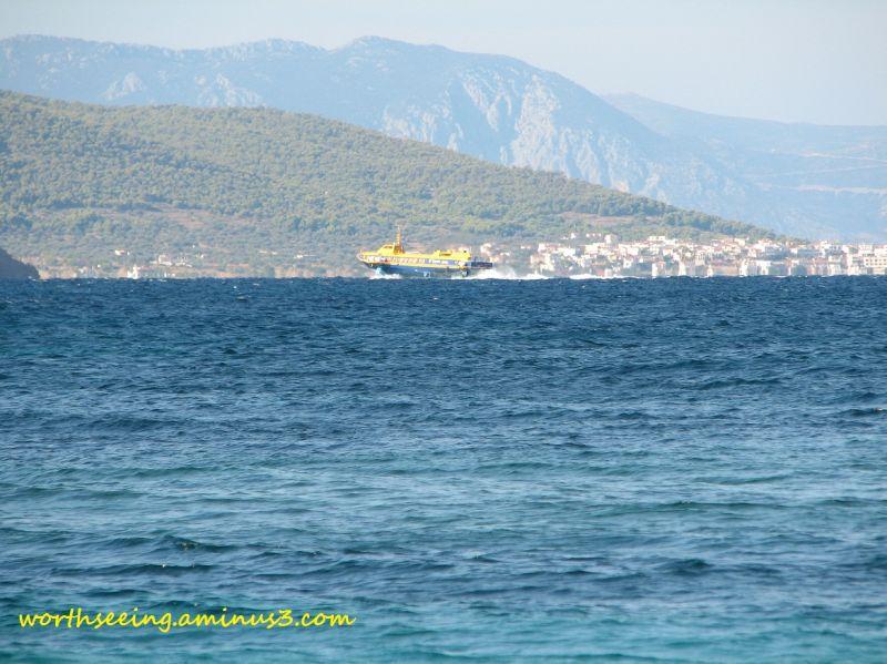 blue sea...
