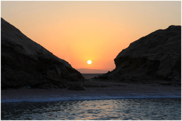 Tunisia, Sunrise over the lake Chott el Jerid