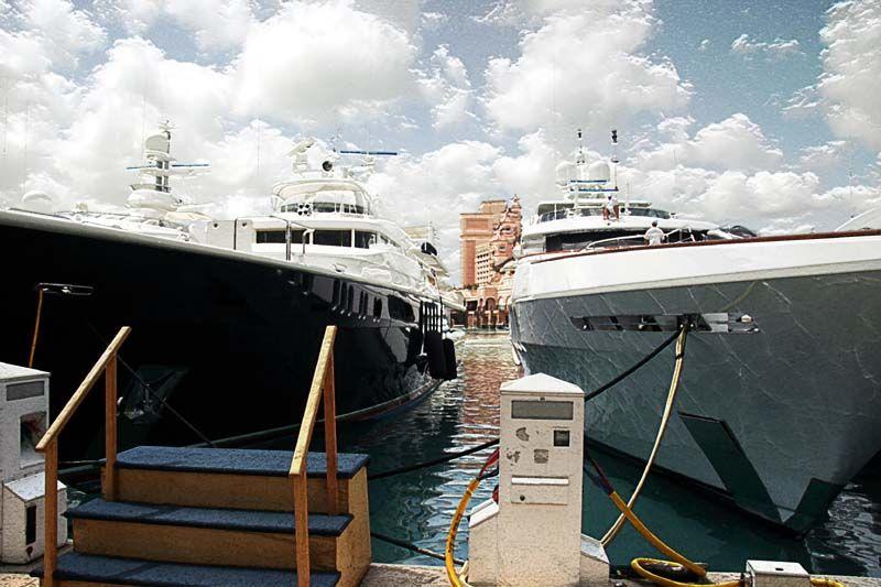 Yachts in Atlantis