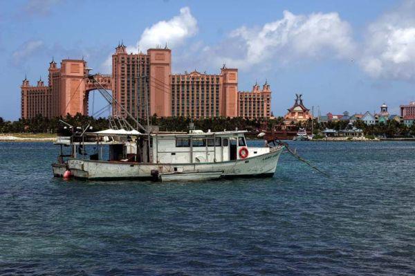 Fishing boat in Nassau, Bahamas