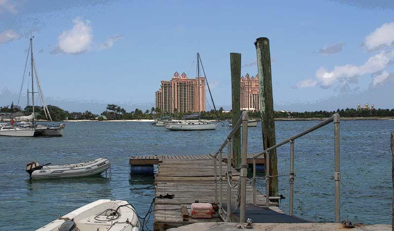 Green Parrot pier in Nassau