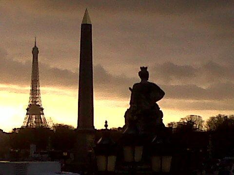 Coucher du soleil à Paris