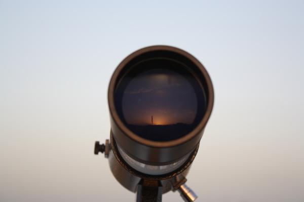 sunrise in finderscope