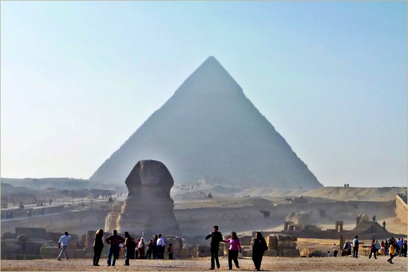 Sphinx and pyramid, Egypt, 2010
