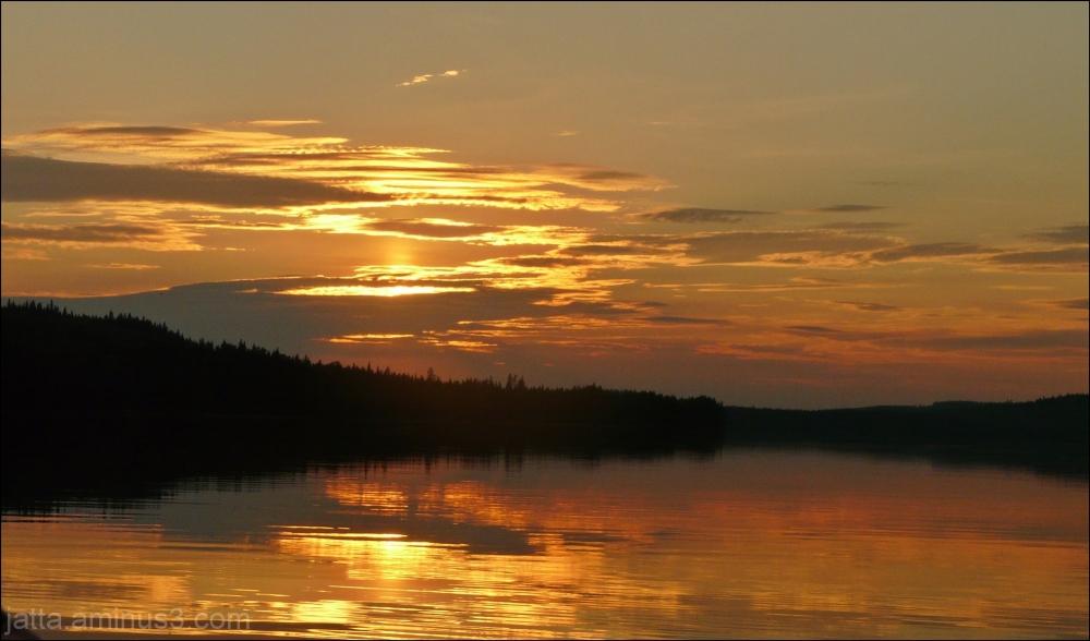 July night at lake