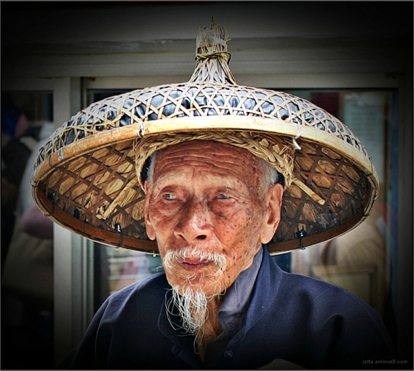 Old man and his hat