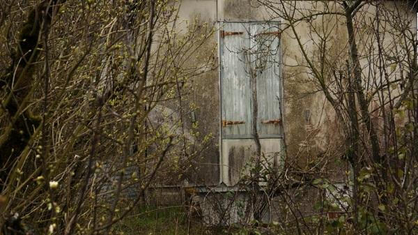 closed door.