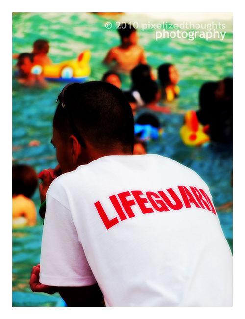 Lifeguard at Nine Waves Resort