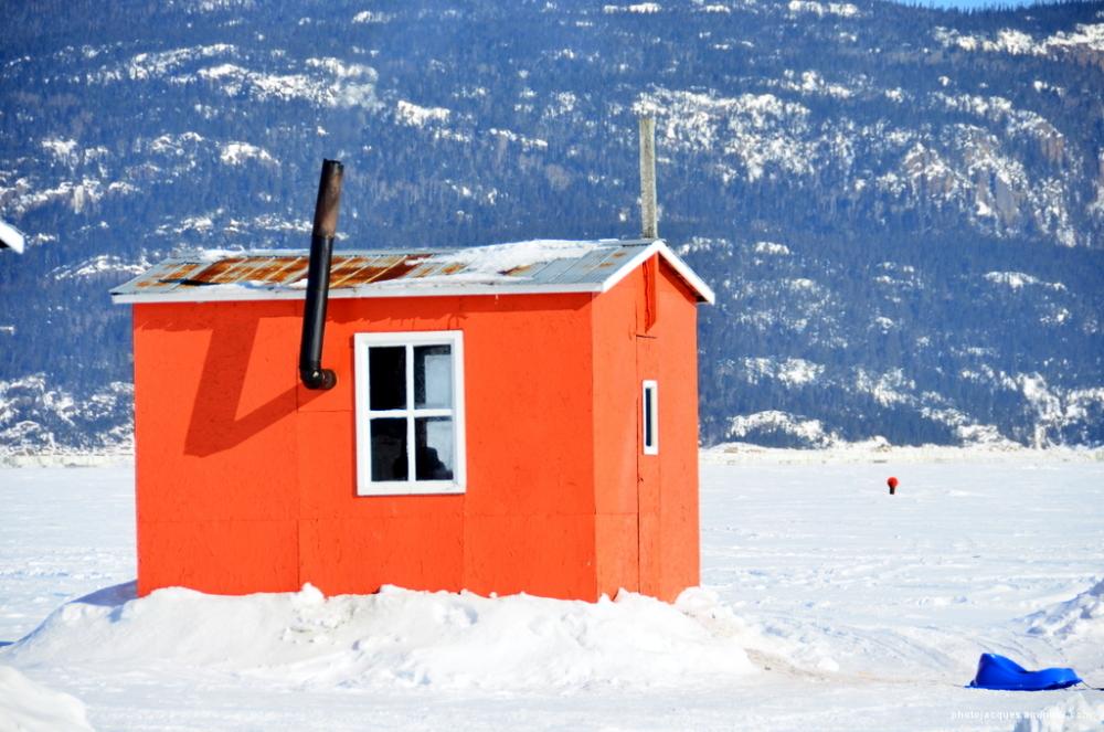 Cabane à pêche sur le Fjord
