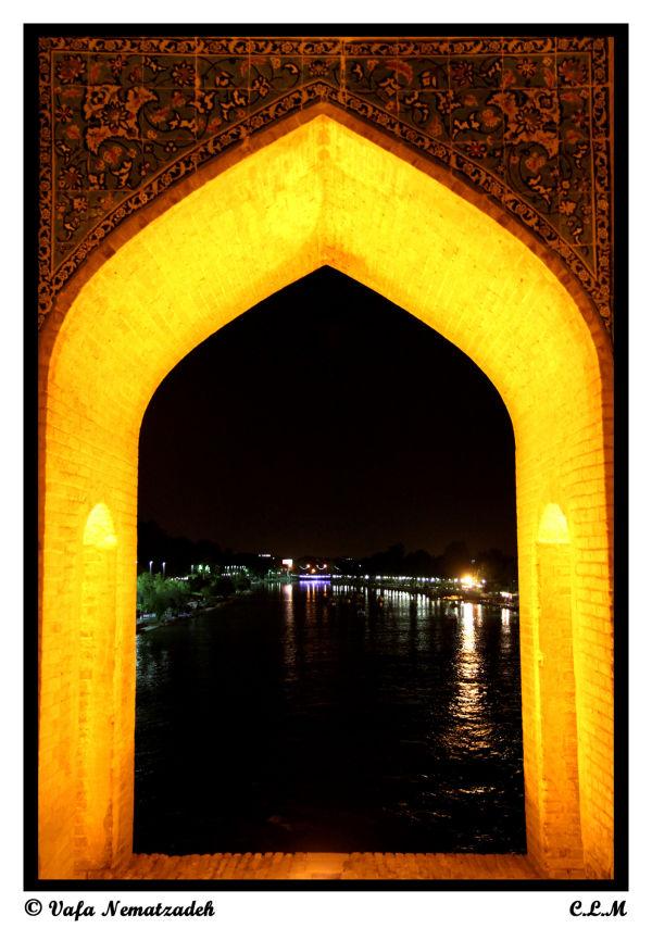 Zayandeh Rood at Night.Iran