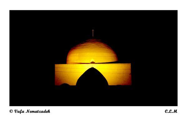 Saint Mary Church at Night.Iran