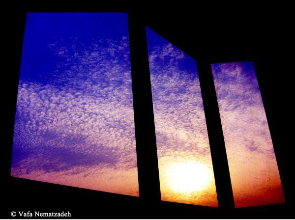 Sunset ; Frame in the Frame!