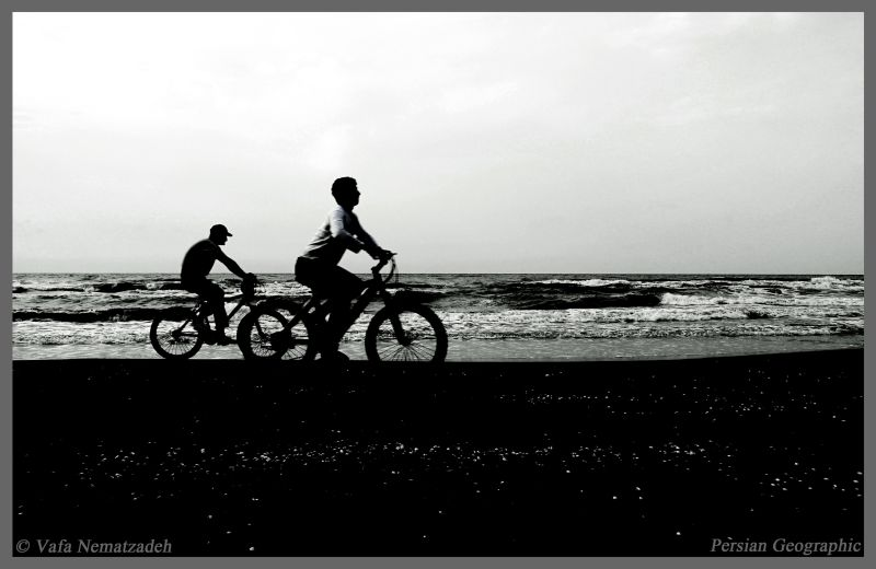 Cyclists and the Sea.Iran