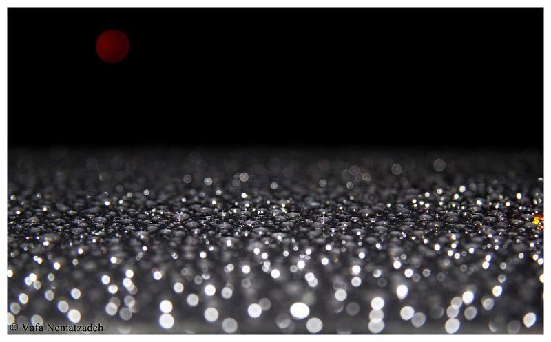 Red Moon & Metallic Rain