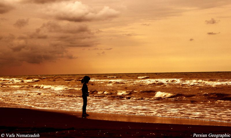 Sunset,Child,Sea