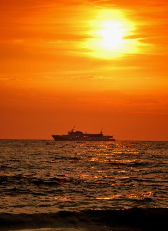 baltic sea in orange