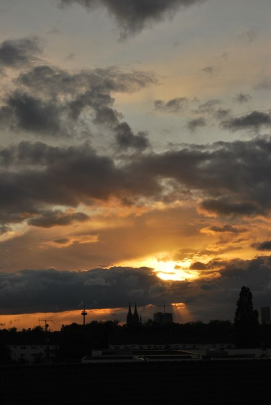 Mein erster Sonnenuntergang in Köln